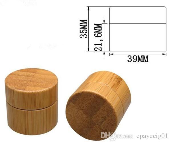 Nuevo envase de cera de bambú pequeño 10g tarros cosméticos con crema de cuidado personal PP interior tapa de tarro de bambú