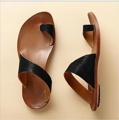 Women slippers plain color flat sandals casual beach shoes shopping shopping massage casual sandals slippers 35~43