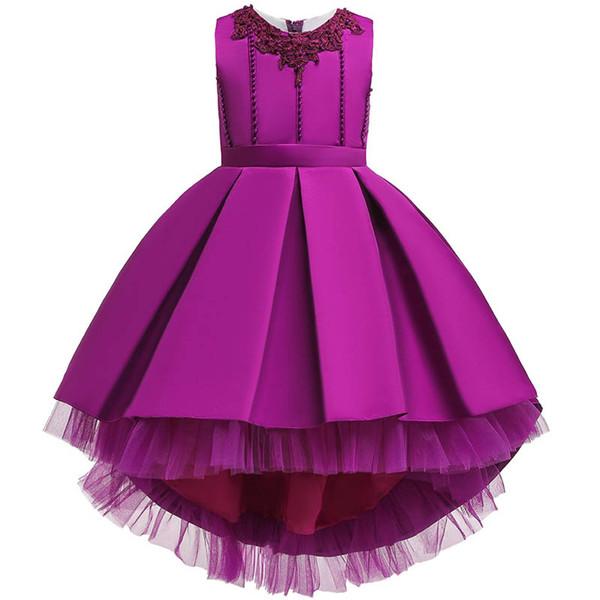 Vestidos da menina de flor para meninas de casamento pageant vestidos vestidos de princesa para crianças pettiskirt vestido Longo partido vestido formal de varejo A7616
