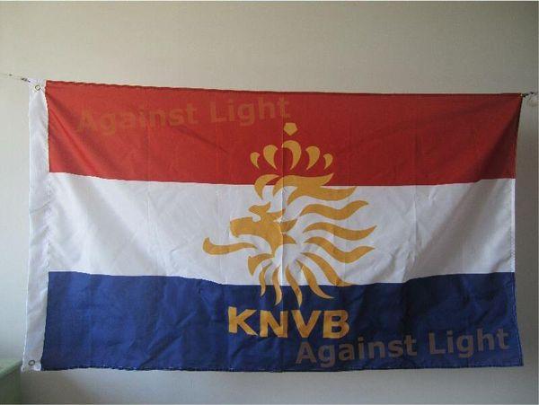 Bandiera nazionale olandese della squadra di calcio 90 x 150 cm poliestere olandese Eleven Holland Orange Legion Banners