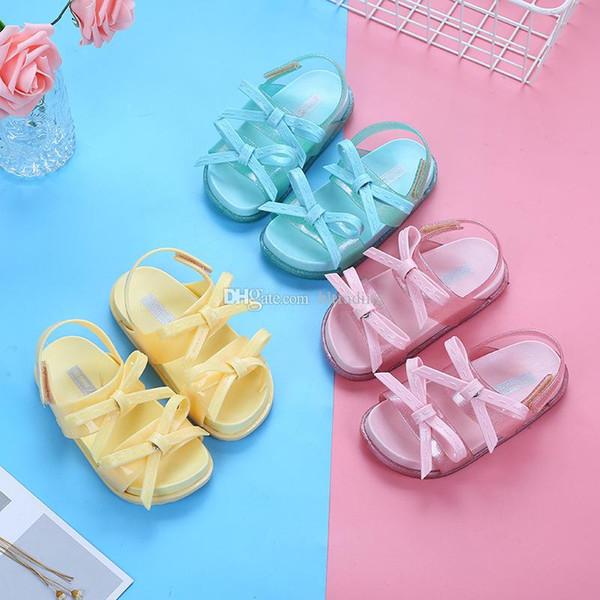 Melissa niños sandalias niños arco princesa zapatos 2019 verano PVC suave inferior zapatos de las niñas C6401