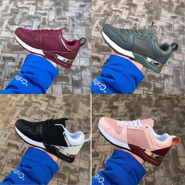 Düşük fiyat Popüler Deri bayan Rahat Ayakkabılar Kadın Erkek Tasarımcı Sneakers Ayakkabı Moda Deri Lace Up Düz Ayakkabı Karışık Renk