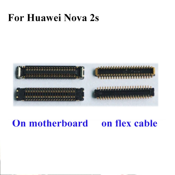 2pcs FPC connector For Huawei Nova 2s 2 s nova2s LCD display screen on motherboard mainboard / on cable For Huawei Nova 2 S