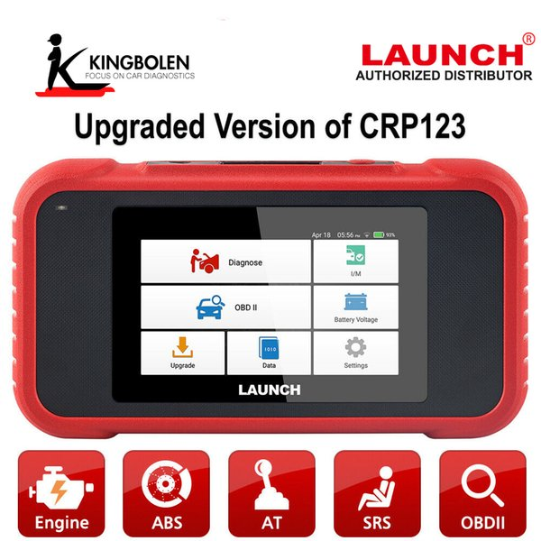 LAUNCH CRP123E X431 OBD2 Code Reader With Engine ABS Airbag SRS Transmission systems OBDII Diagnostic Tool CRP123E Free Update
