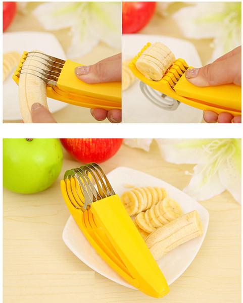Hot sale! Creative Home Kitchen Tool Vegetable Peeler Salad Slice Banana Slicer Chopper Fruit Cutter Cucumber Knife for Salad Sundaes Tools