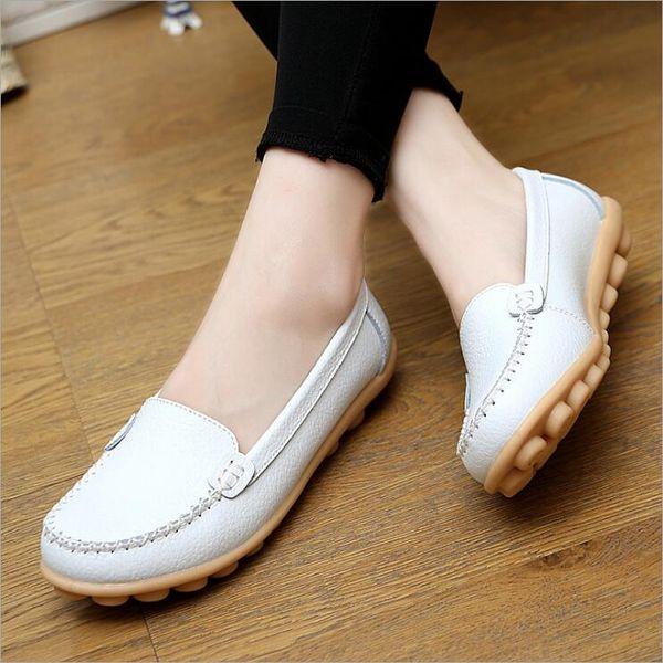 Confort casual para mujer de verano Zapatos para caminar guisantes Moda Zapatos Doug ligeros Zapatos mocasines de madre