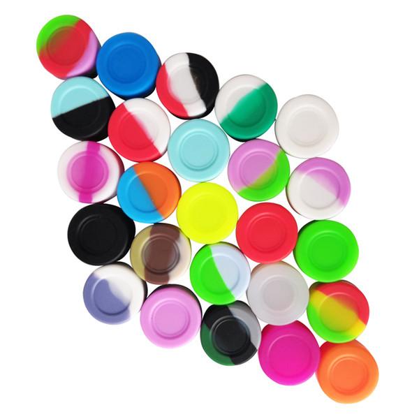 FDA onaylı gıda sınıfı yapışmaz mat bitirmek kullanımlık küçük 3 ml mini silikon kavanoz konteynerler için dab wax yağı bho konsantresi