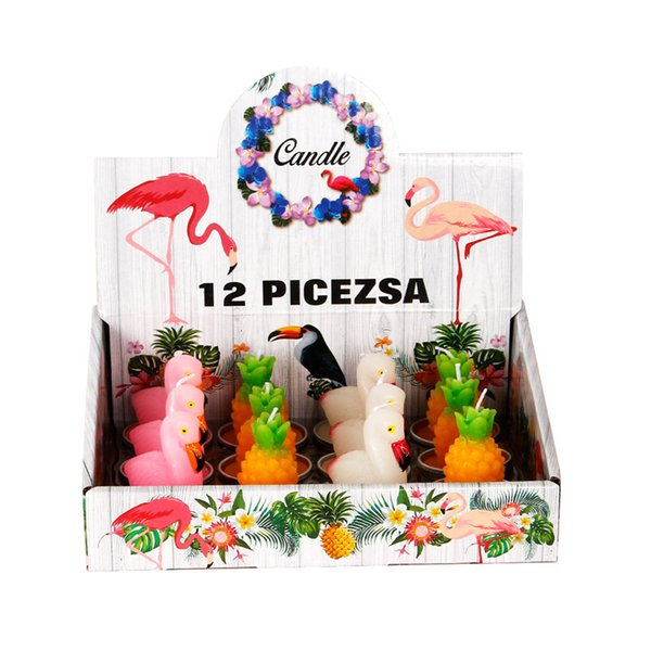 Craft Tea Candle Cake Hotel ktv Iluminación para el hogar Vestir Flamingo Aluminium Shell Candle DHL 1188 gratis