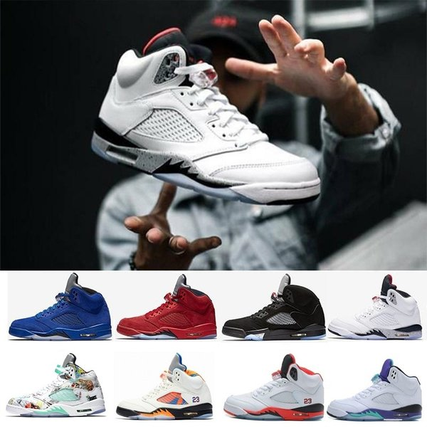 Cheap 5s 5 OG Black Metallic 3M Reflect Basketball Shoes Men CDP Premium Triple Black White Cement s Wings Blue Suede Camo Grey Sneakers