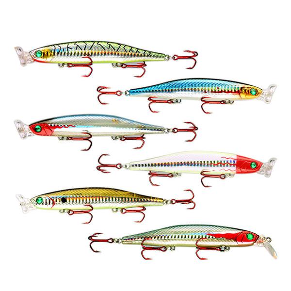 Iscas de pesca Hard Baits Poppers Minnow E Lápis 4 Lábio Fazer 5 Diferentes Ação Switchable Equipamento De Pesca Modelo 5345