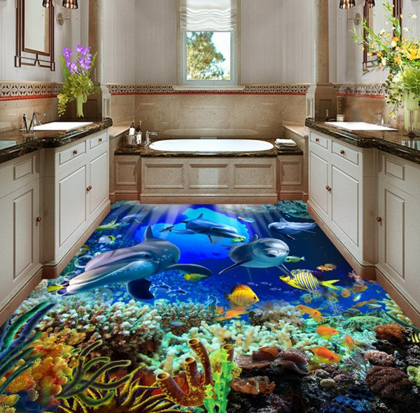 [Self-Adhesive] 3D Underwater World 1211 Floor Wallpaper Mural Wall Print Decal Wall Murals