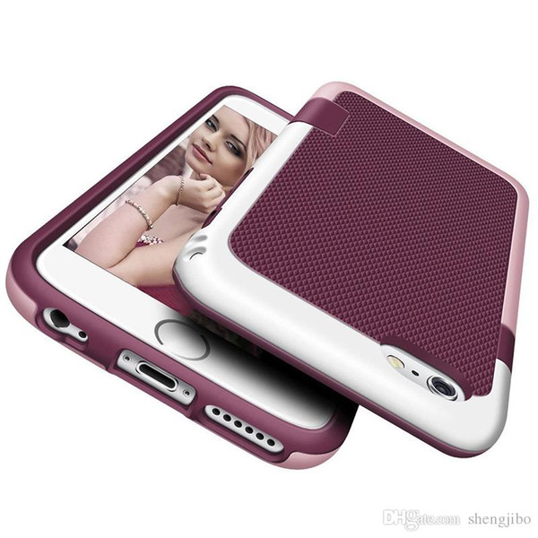Heavy Duty Hybrid Impact Shockproof Armor Rugged Case For iPhone 8 7 6 6S Plus Cover Hard PC + Soft Rubber Silicone Phone Cases
