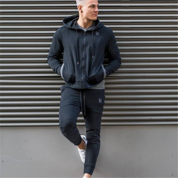 Sport Suit Men Running Gym Clothing Hoodie Tracksuit Male Fitness Body building Men Hoodies+Pants Joggers Set Sport Suit