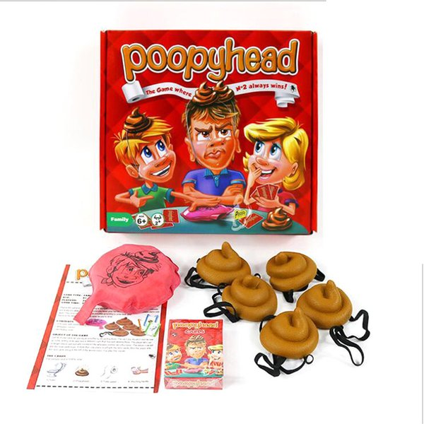 Poopyhead Card Games The Game Where Number 2 Always Wins Family Party Fun Board Games Tricky Toys DHL