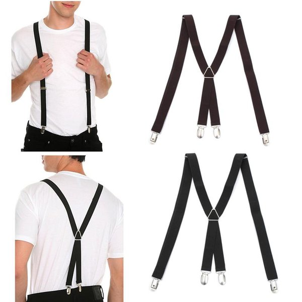 Unisex Men Women X-back Clip Suspenders Adjustable Elastic Braces Supports For Pants Clothing Accessories Trousers Braces Holder