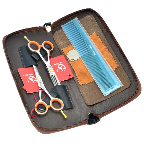 "Meisha 4.0"" 5.0"" 5.5"" Hairdresser's Hair Scissors Set Japan 440c Professional Barber Cutting Shears Salon Thinning Trimming Tijeras HA0143"