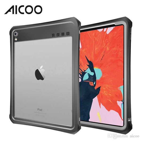 AICOO Waterproof Shockproof Tablet Case with Lanyard Bracket Snowproof Dustproof Case for iPad Pro 11 10.5 9.7 2017 Retail Package
