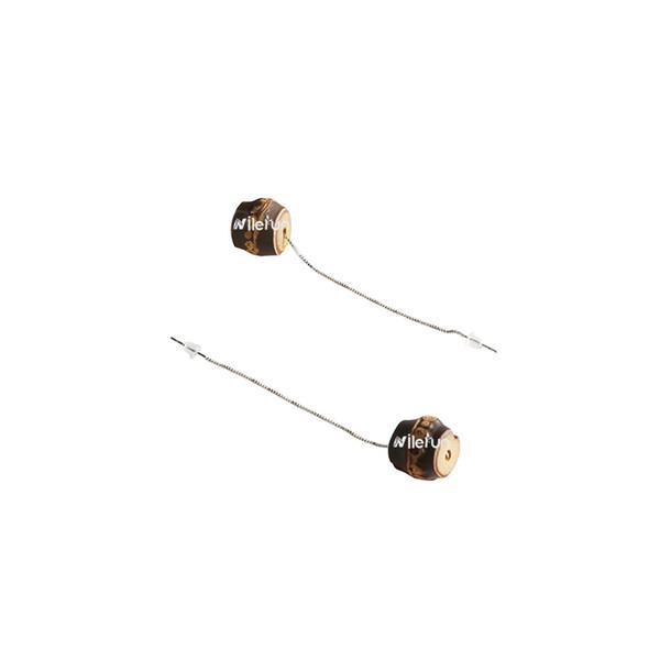 longue chaîne d'argent perle de racine de bambou noir pendent boucles d'oreilles chandelier