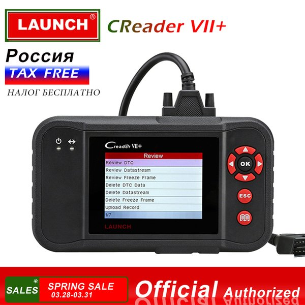 LAUNCH X431 Creader VII+ OBD2 Car Code Reader Scanner Auto Diagnostic Tool for Engine Transmission ABS Airbag Creader VII Plus