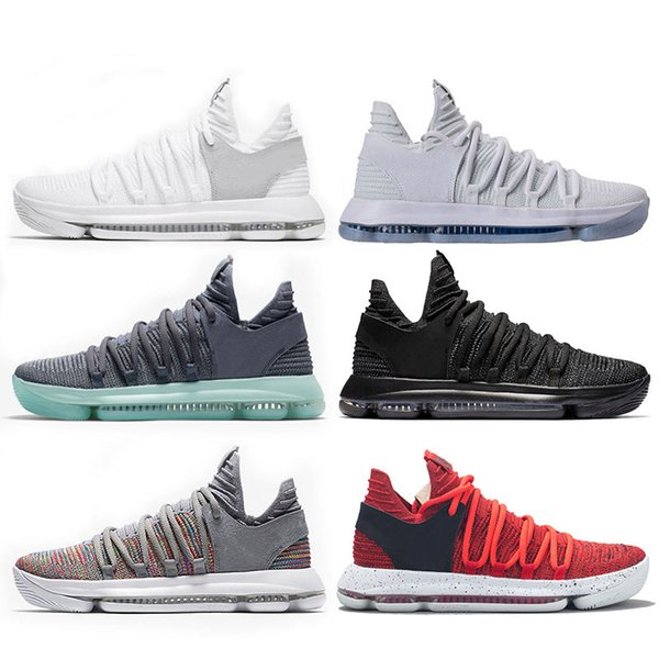 Mens zoom KD Basketball Shoes Brand Sneakers KD 10 Oreo Be True UniversIty Red White Chrome Kevin Durant Outdoor Desigmer Sports Shoes