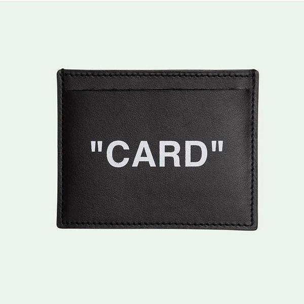 19ss Black OF White Porte-cartes Portefeuilles En Cuir