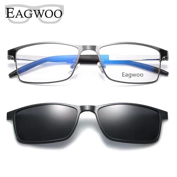 Magnet Lunettes Cerclée Cadre optique prescription en métal en alliage lunettes Hommes Myopie Lunettes MULTIUSAGE Lunettes de soleil 996