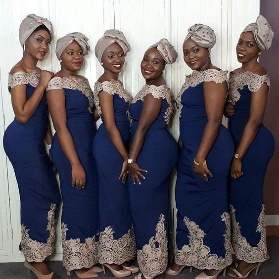 moderate cost best loved really cheap Modest Gold Lace Navy African Bridesmaid Robes Dresses Sheath Off Shoulders  With Sleeves Cheap Robes De Demoiselle D'Honneur Prom Dress Long Purple ...