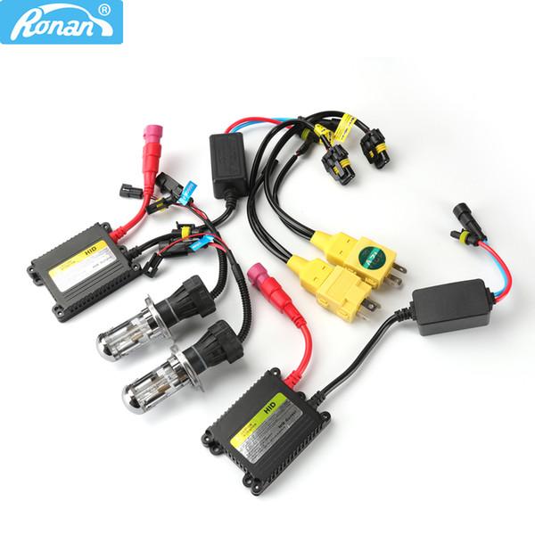 Ronan carro estilo xénon H4-3 lâmpadas 35W com 12C DC lastro kit fio H4 para reequipamento do farol do carro