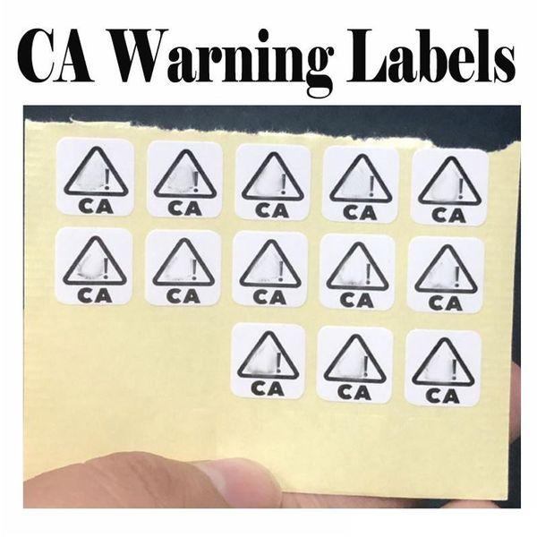 adesivi di avviso CA