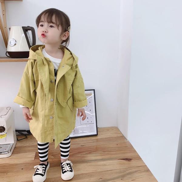 Baby Girl Kids Winter Warm Casual Hooded Trench Coat Jacket Windbreaker Outwear
