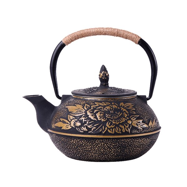 top popular Chinese Cast Iron Teapot Kettle with Stainless Steel Infuser Strainer Plum Blossom 30 Ounce ( 900 ml ) 2021