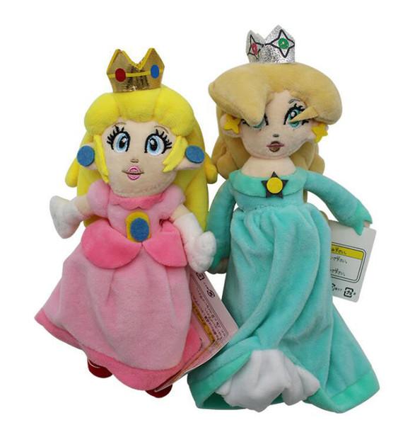 20cm Super Mario Bros Plush Toy Princess Toadstool Peach Stuffed&Animals Doll Kids Baby Christmas Gift