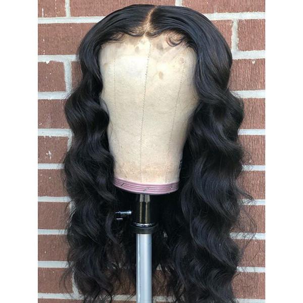 Transparent Frontal dentelle perruque avec bébé cheveux dénoués vague profonde perruque Indétectable dentelle de cheveux humains Ponytail Pré plumé Lace Wig
