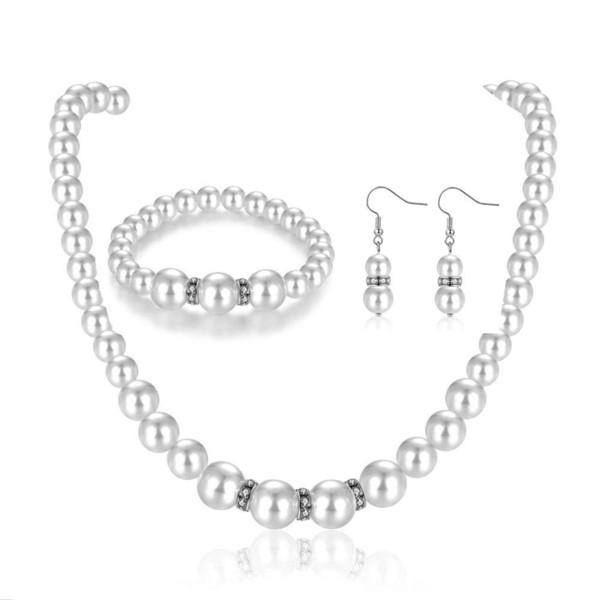d700592fc520 Conjunto de collar de perlas de imitación para bisutería para mujer o  vestido de novia
