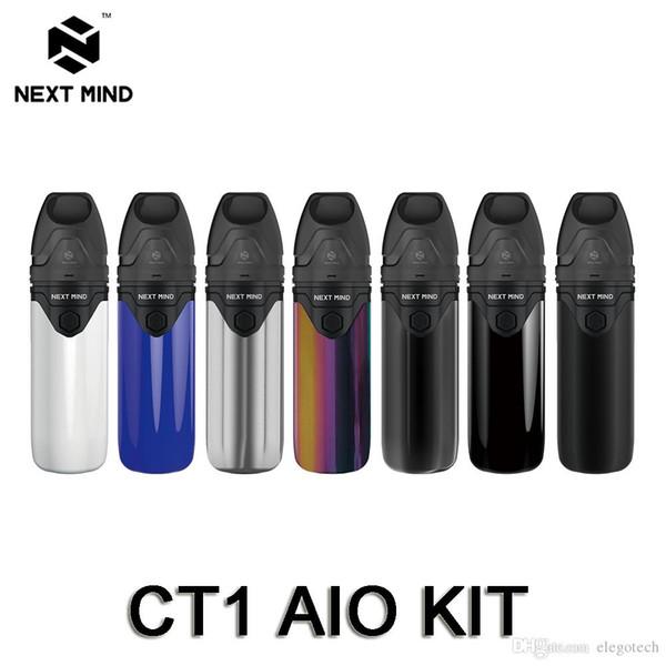 Próxima Mente CT1 AIO Pod Vape Kit 650 mAh 3.5 ml Recarregáveis Pod Sistema com Bobina De Cerâmica Dupla Fluxo De Ar Auto-Limpeza Kits de Cigarros Eletrônicos