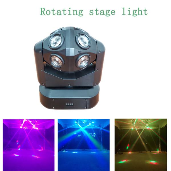 Luci di partito Laser portatile Luci di fase a testa mobile Lampada DJ RGBW Stage Luci stroboscopiche suono attivato per feste in camera Mostra compleanno