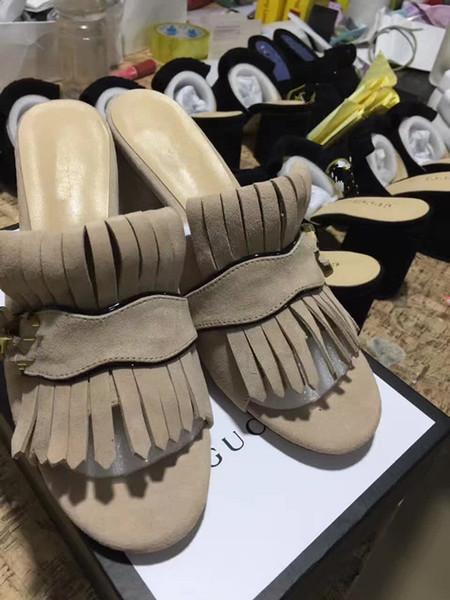 2019 venta caliente de las mujeres sandalias de tacón grueso zapatos de oficina dama casual sandalias inferiores gruesas verde tacones cortos moda negro zapatos T5