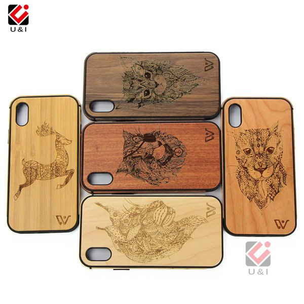 Whole Wood Protect Cell Phone Case For iPhone 5 6 7 8 Plus X XS XR Max