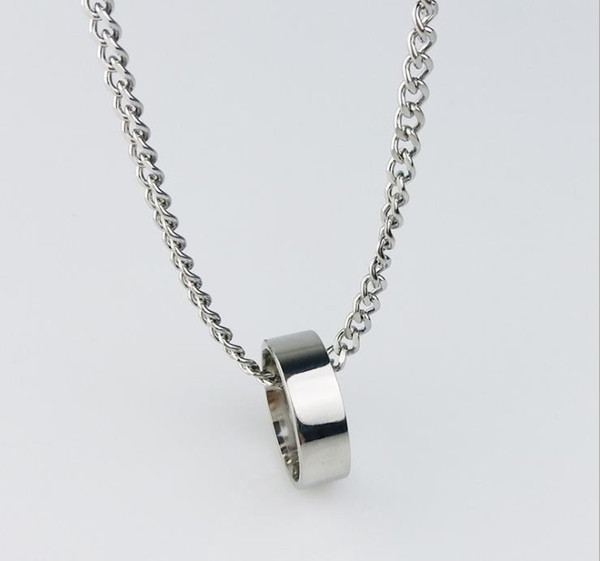 European and American Explosive Stainless Steel Necklace Ring with Individual Quality Hip-hop Drop Fashionable Men's Jewelry