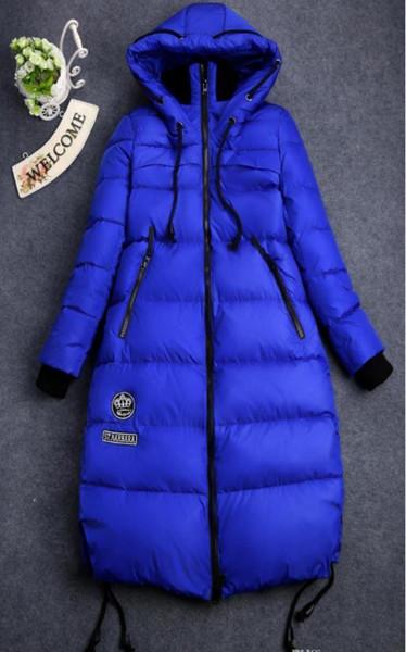 Artı Boyutu Aşağı Parkas Kadınlar Kış Ceket Uzun Ceket Açık kar Ceket Sıcak Dış Giyim Palto Hood 90% Beyaz Ördek Aşağı Yastıklı Kalınlaşma 5xl