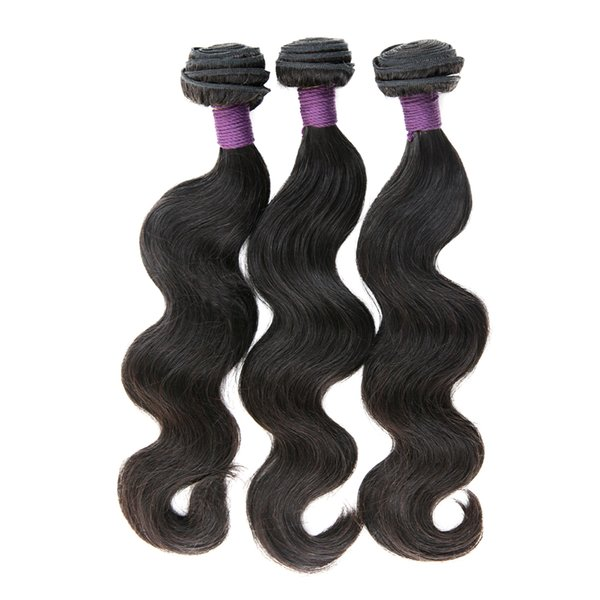 9A Brazilian Virgin Human Hair Bundles Body Wave Unprossed Raw Weave natural color Remy Hair Extensions