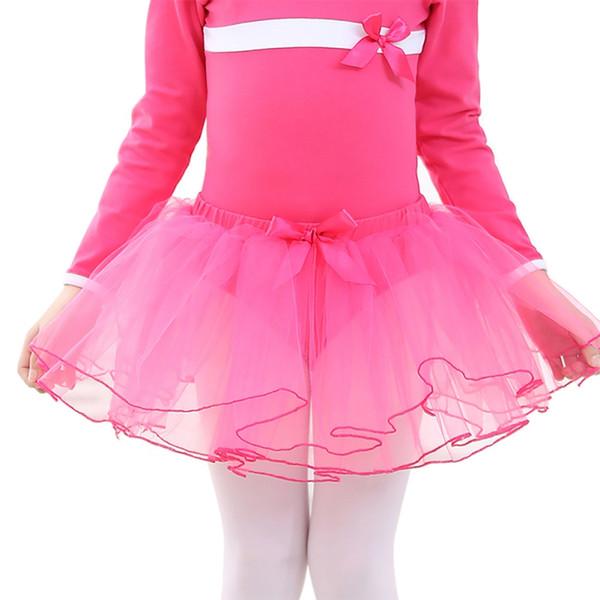 New Girls Ballet Skirt 3 strati Mesh Tulle Tutu Gonne corte Kids Ballet Skirt Athletic Ginnastica Costumi Dance Wear Bottom