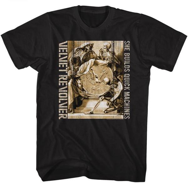 VELVET REVOLVER Uomo Novità Macchine veloci METAL100% NERO Camicia di cotone in 2018 T Shirt in cotone a maniche corte Uomo Abbigliamento