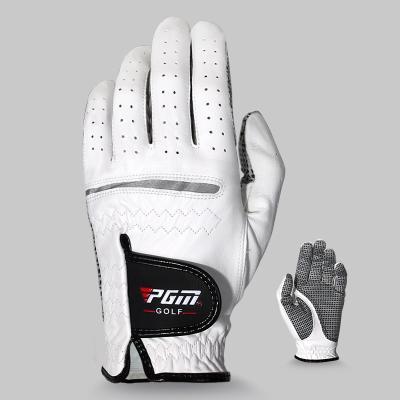 PGM en cuir véritable peau de mouton hommes Gants de golf Gants souple respirant gauche sport Golf main antidérapante + B