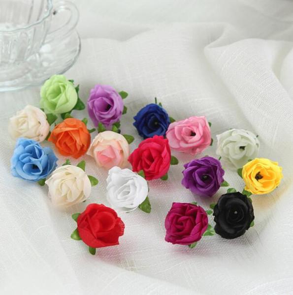 Dekorasyon için 14 renkler Yapay Çiçekler ipek Gül çiçek Başları Parti Düğün Dekorasyon Malzemeleri Sahte Çiçek duvar dekor Ev Dekorasyonu