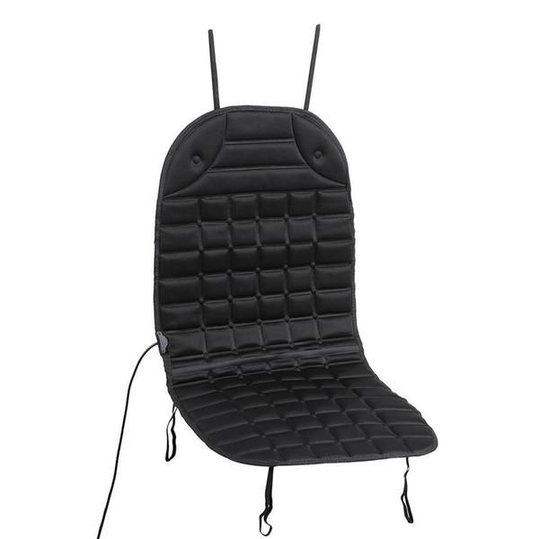 Color: Negro 12V Cubierta del cojín del asiento del automóvil con calefacción Calentador del calentador del asiento del hogar para el invierno Se adapta a todos los tamaños diferentes de automóviles, o asientos de RV