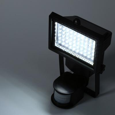60 LED Süper Parlak Su Geçirmez Powered PIR Hareket Dedektörü Kapı Duvar Lambası Işık