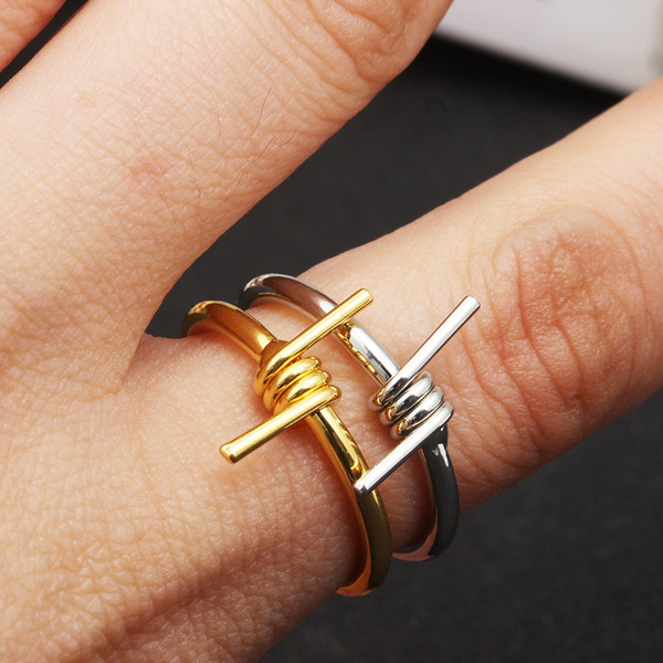 Unisex Creative Wire Winding Ring Metal Joint Ring for Women Men Hip Hop Punk Ring Wholesale Jewelry Accessories