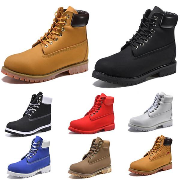 Original brand fashion mens women boots chestnut black red blue White Grey luxury designer casual boots