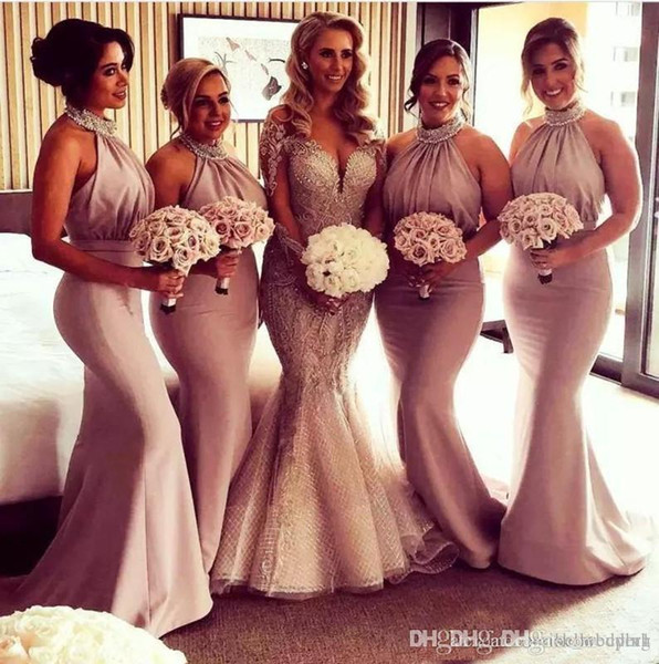 Beaded Junior Bridesmaid Dresses Satin Country Mermaid Bridesmaid Dress  Cheap Long Evening Party Gowns Plus Size Maid Of Honour Dresses Black And  ...